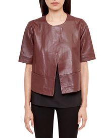 Ted Baker Losimia Short Leather Jacket