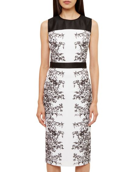 Ted Baker Reihan Illustrated Elegance Midi Dress
