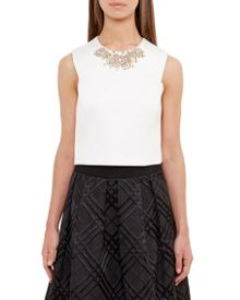 Ted Baker Jaby Embellished cropped top