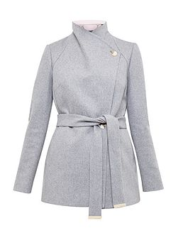 Elika Short Wrap Coat