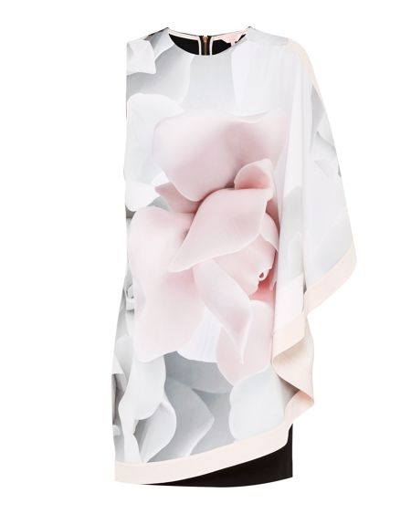 Ted Baker Lizeey Porcelain Rose Layered Tunic