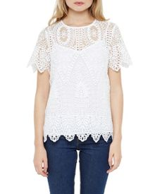 Ted Baker Darsee Scalloped Edge Lace Top