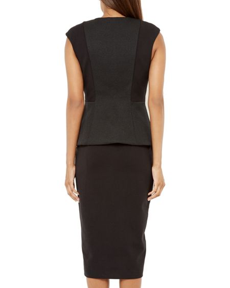 Ted Baker Jumana Textured Peplum Dress
