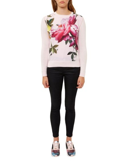 Ted Baker Dalhii Citrus Bloom Woven Sweater