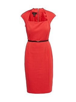 Torry Square Neck Belted Dress