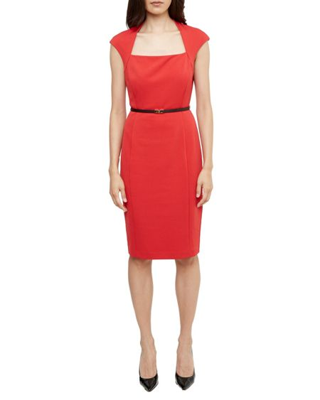 Ted Baker Torry Square Neck Belted Dress