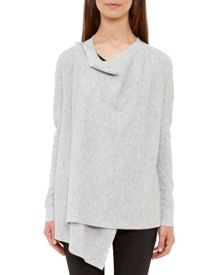 Ted Baker Siara Ribbed Magnetic Wrap Cardigan