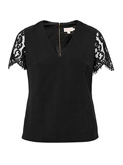 Jessin Lace V-Neck Top