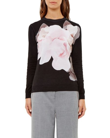 Ted Baker Asteer Porcelain Rose print jumper