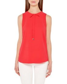 Ted Baker Hadiaa Bow detail crepe top
