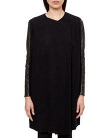 Ted Baker Elaina Leather Panel Wrap Cardigan