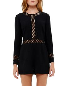 Ted Baker Leesa Mesh Detail Playsuit