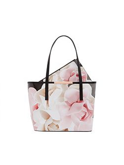 Joanah Porcelain Rose Small Leather Shopper Bag