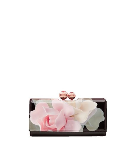 Ted Baker Dellare Porcelain Rose Leather Matinee Purse