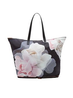 Lorrcan Porcelain Rose Foldaway Shopper Bag