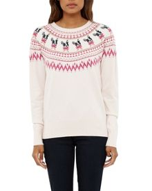 Ted Baker Elion Merry Woofmas Fair Isle Jumper