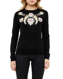 Ted Baker Shani Opulent Orient Embroidered Jumper