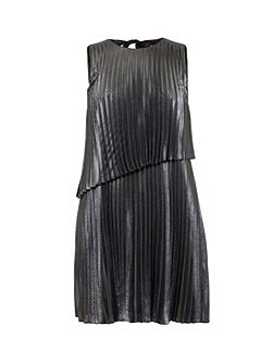 Mey Asymmetric Pleated Shift Dress