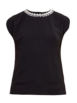 Paree Embellished Neckline Top