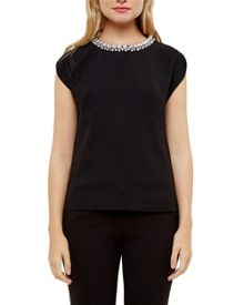 Ted Baker Paree Embellished Neckline Top