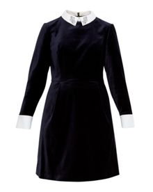 Ted Baker Cheryll Embellished Collar Velvet Dress