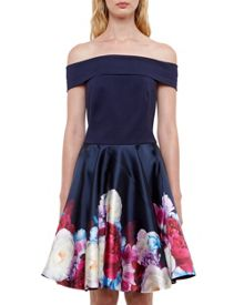 Ted Baker Nersi Blushing Bouquet Bardot dress