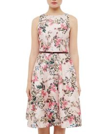 Ted Baker Clarbel Blossom Jacquard V-Back Dress