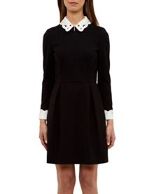 Ted Baker Shealah Embroidered collared dress