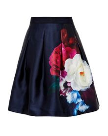 Ted Baker Lipka Blushing Bouquet pleated full skirt