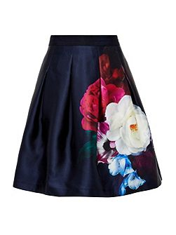 Lipka Blushing Bouquet pleated full skirt