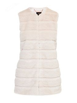 Jeana Textured faux fur gilet
