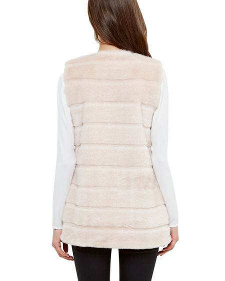 Ted Baker Jeana Textured faux fur gilet
