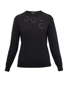 Ted Baker Iarni Heart Cut-out Cashmere-Blend Jumper
