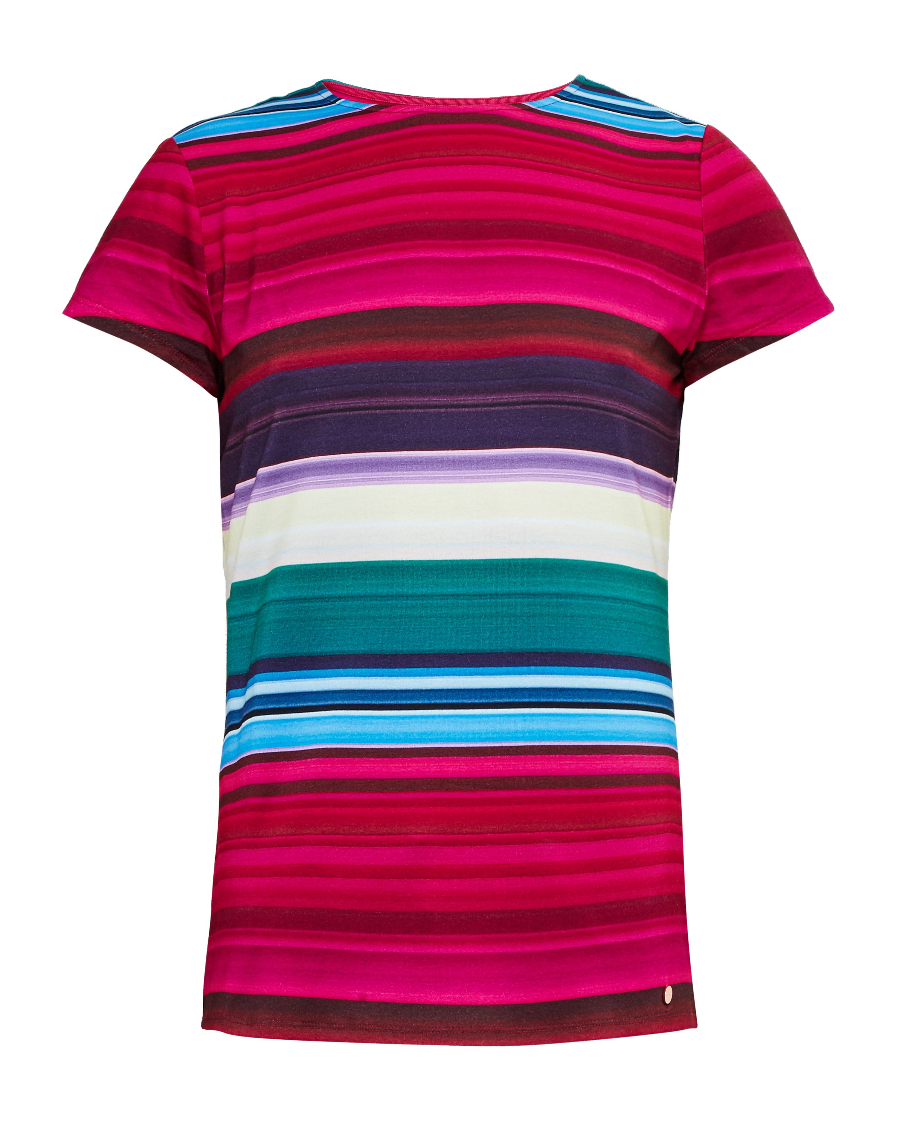 Ted Baker Itrsti Striped fitted Tshirt Pink