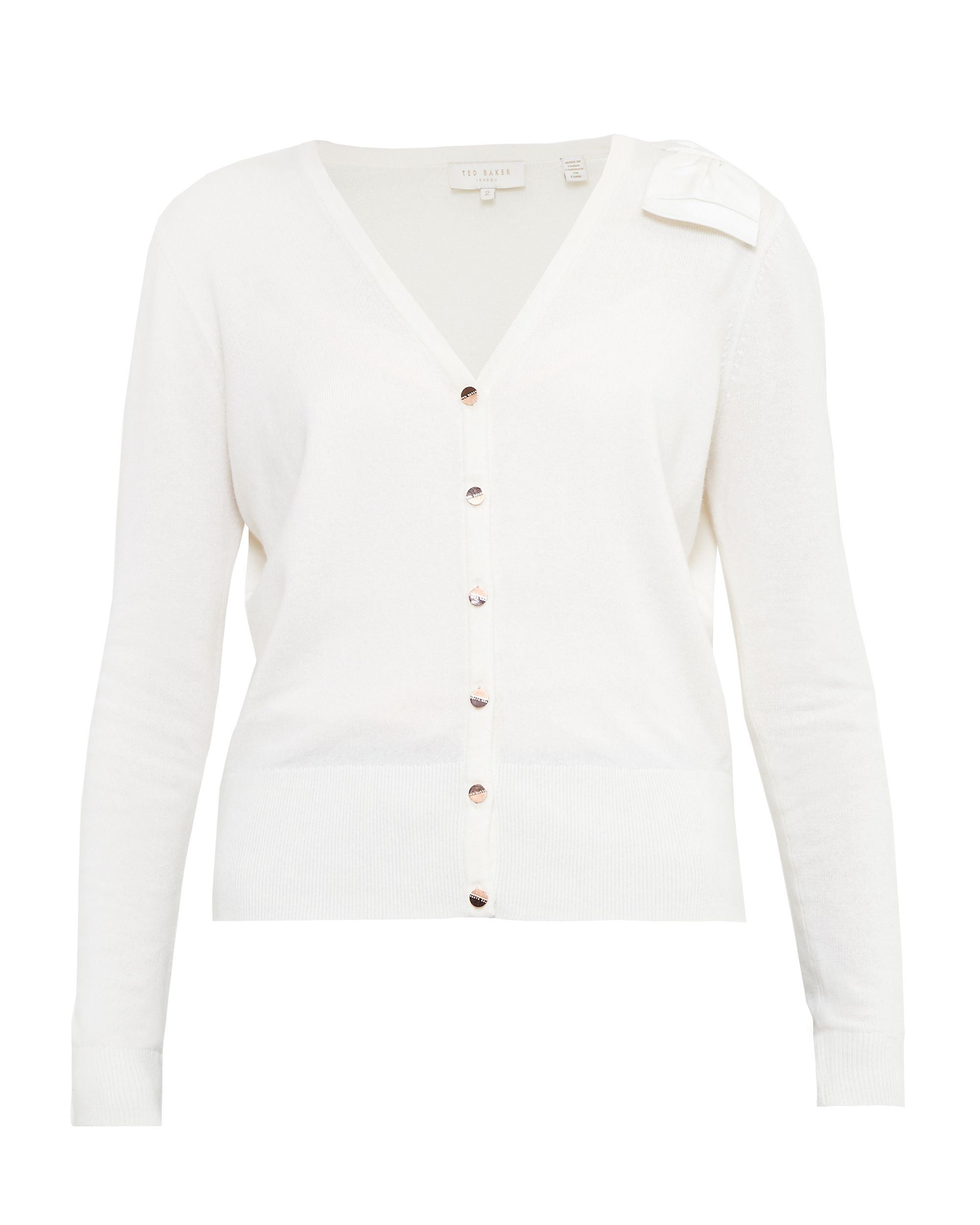 Ted Baker Bevie Bow Cashmereblend Cardigan Cream
