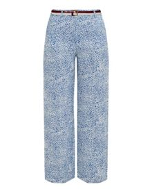 Ted Baker Coley Fish print wide-leg trousers