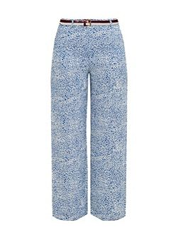 Coley Fish print wide-leg trousers