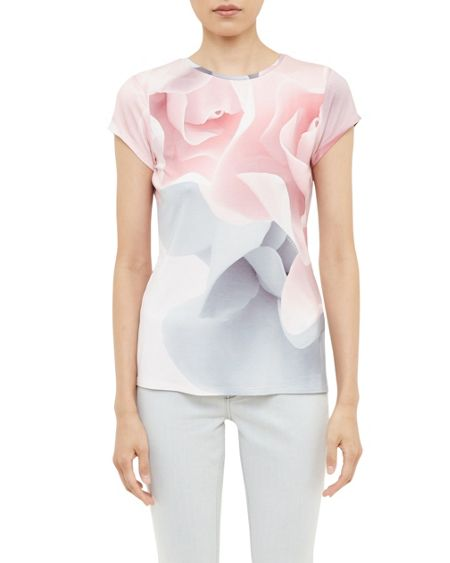 Ted Baker Ciaa Porcelain Rose Fitted T-Shirt