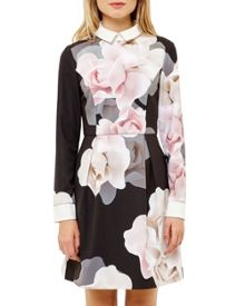 Ted Baker Lascii Porcelain Rose Collared Dress