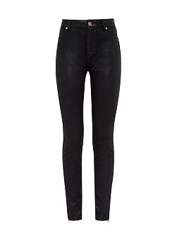 Aissata Wax finish skinny jeans