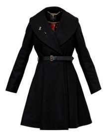 Ted Baker Laureol Flared Skirt Wool Coat