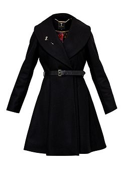 Laureol Flared Skirt Wool Coat