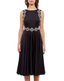 Ted Baker Jirina Embellished backless dress