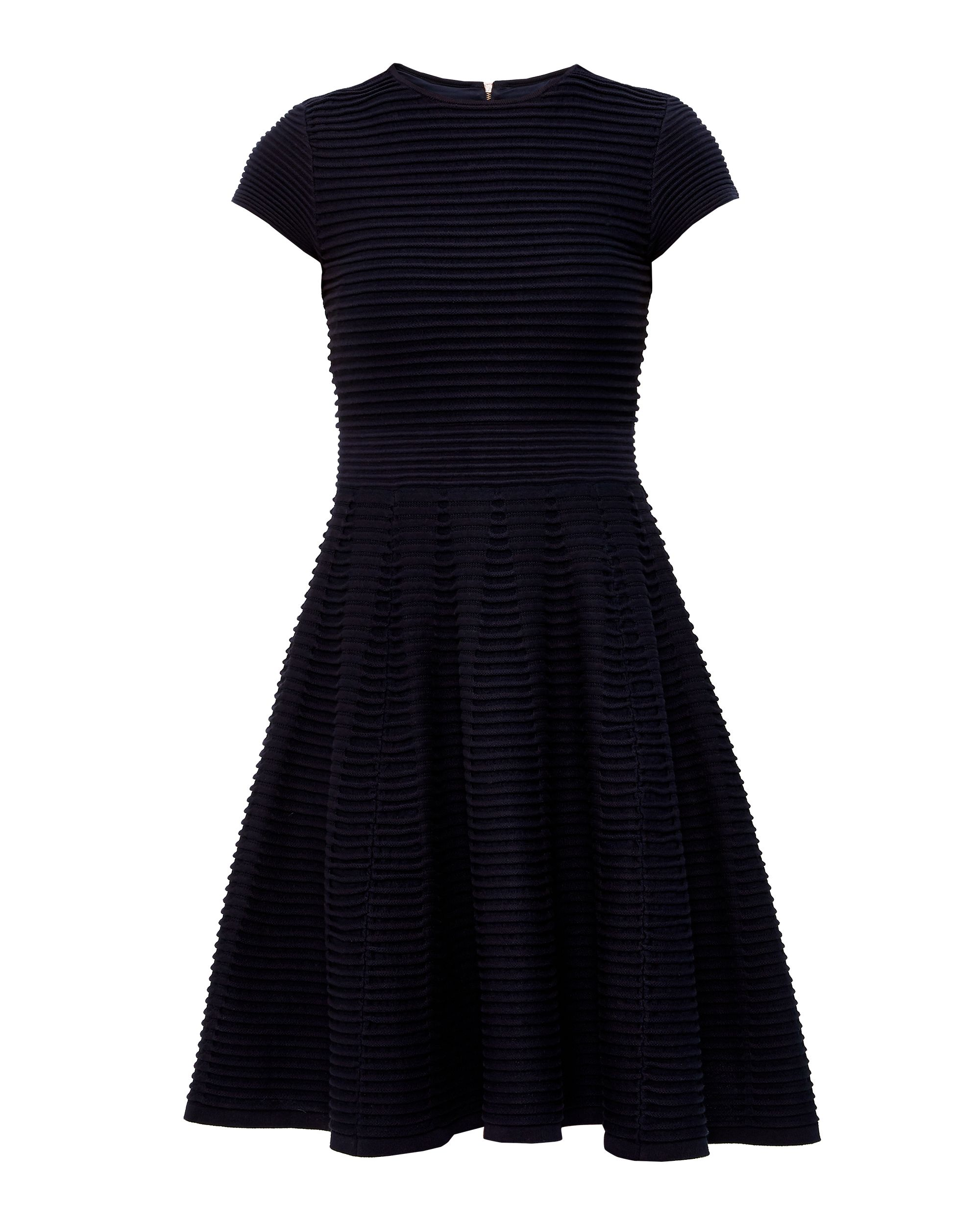 Ted Baker Laysee Knitted Skater Dress Navy