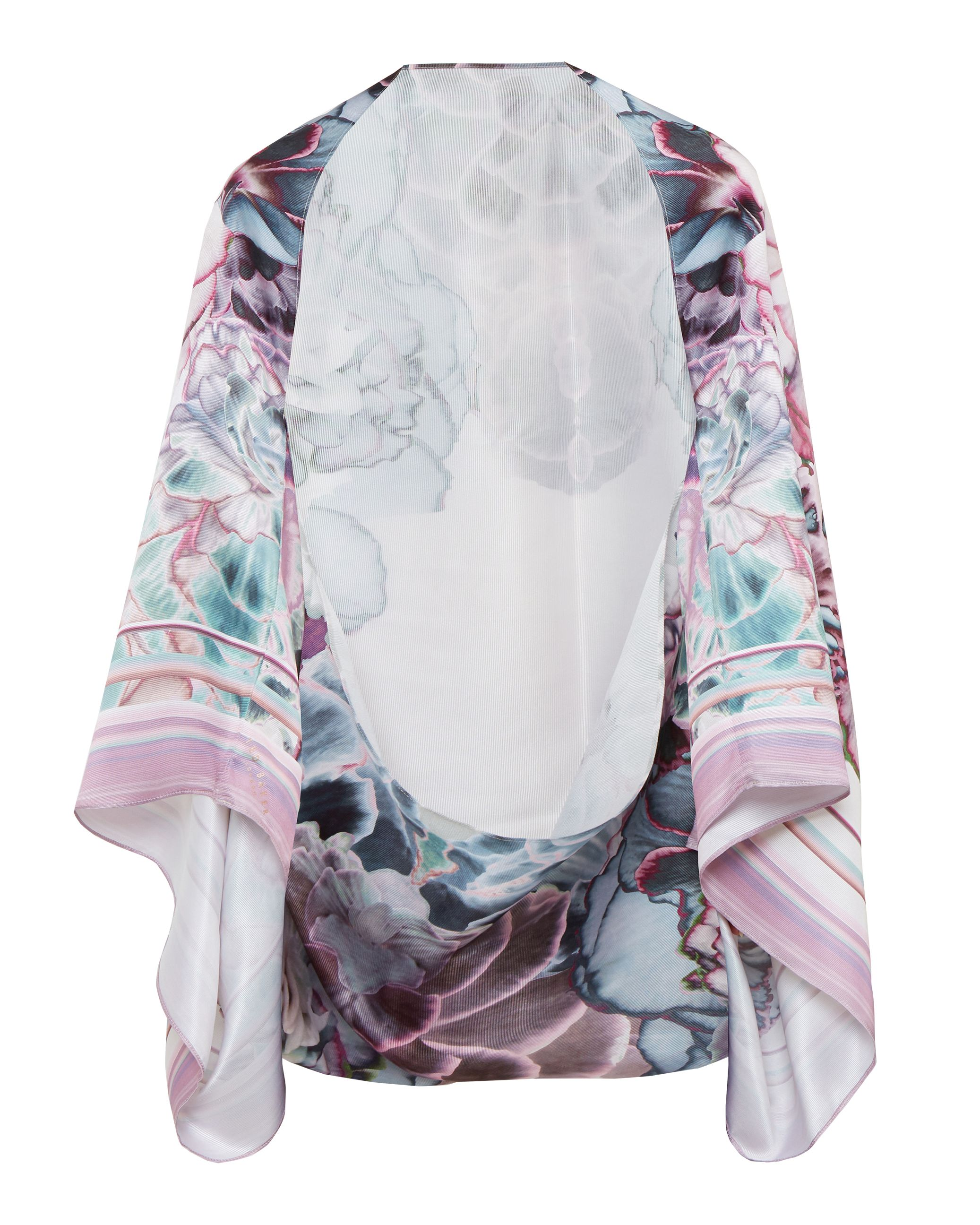 Ted Baker Aivy Illuminated Bloom silk scarf Pink