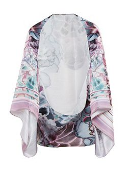 Aivy Illuminated Bloom silk scarf