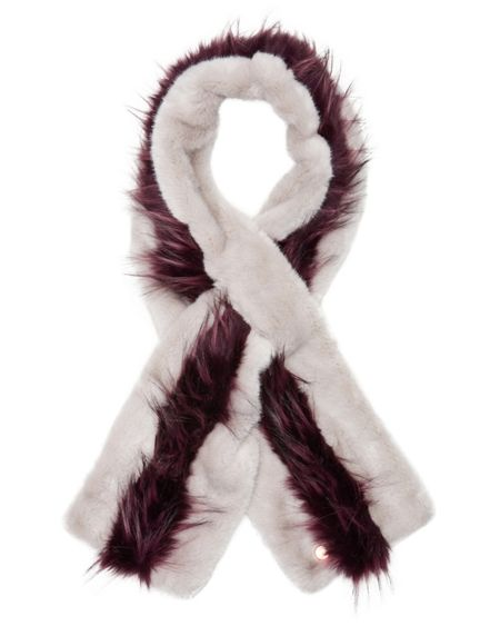 Ted Baker Eviee Striped faux fur scarf