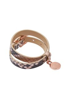 Ted Baker Alexiss Double wrap leather bracelet