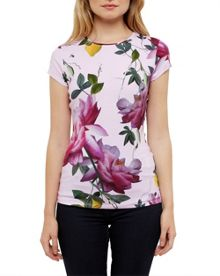 Ted Baker Alicie Citrus Bloom Fitted T-Shirt
