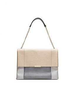 Phellia Textured leather shoulder bag